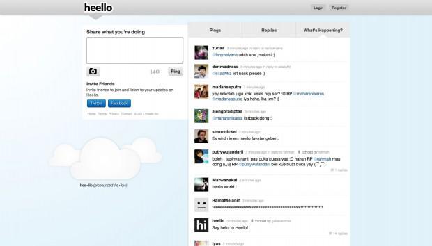 Der neue Twitter-Konkurrent Heello (Screenshot von Golem.de)