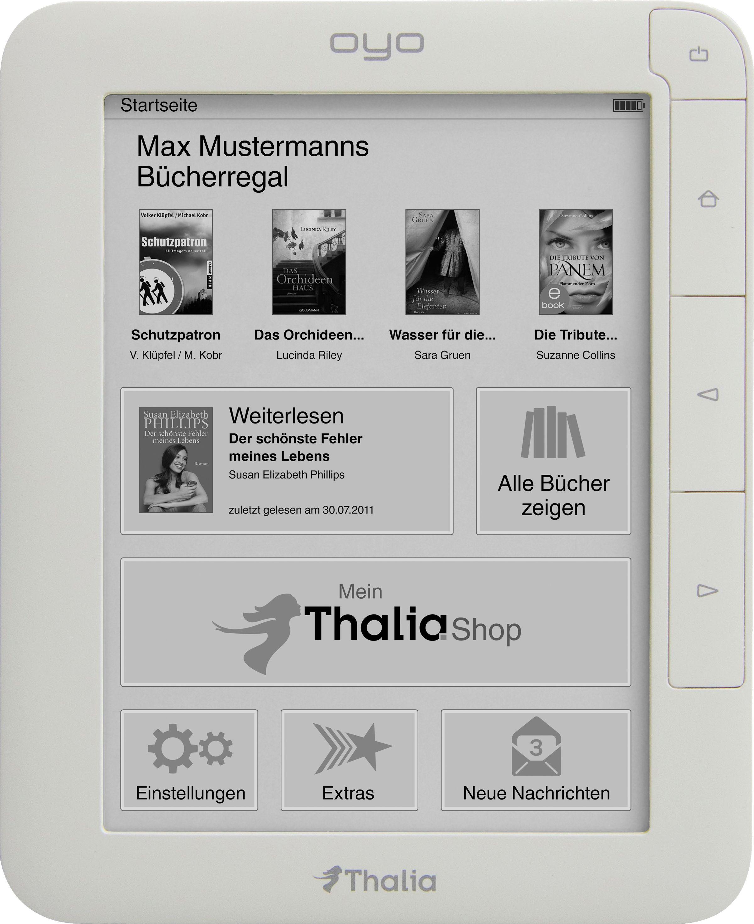 Oyo II: Thalia kündigt neuen E-Book-Reader an - Prozessor, Speicher, Akku: Der Oyo II hat eine bessere Hardwareausstattung (Foto: Thalia)
