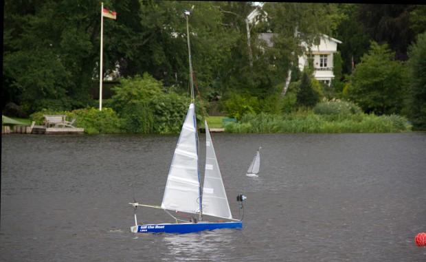 Segelroboter auf der Wakenitz in Lübeck (Foto: Werner Pluta/Golem.de)