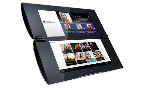 Sony Tablet P - aufgeklappt (Bild: Sony)