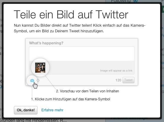 Bilder lassen sich nun auf Twitter leichter mit anderen teilen. (Screenshot von Golem.de)