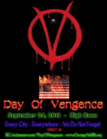 Day of Vengeance - der 24. September 2011 soll der Tag der Vergeltung werden, so Anonymous. (Bild: Anonymous)