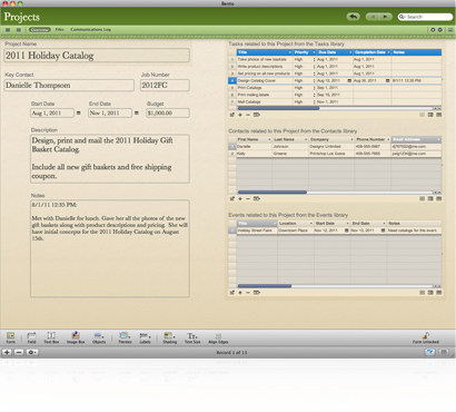 Projekt-Template - Bento Business Organiser (Bild: Filemaker)