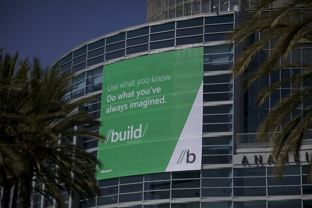 Das Anaheim Convention Center, zwei Tage vor dem Start der Build Windows