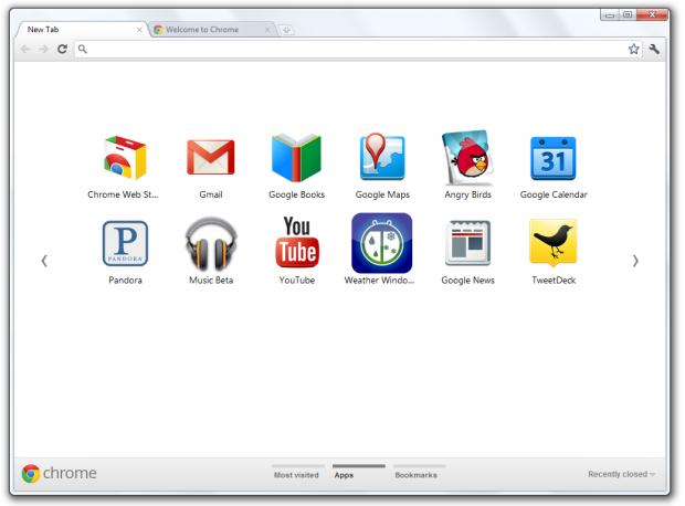 Neue Tabs in Chrome 15 neu gestaltet