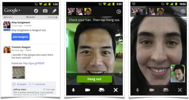 Google+: Hangouts werden mobil.