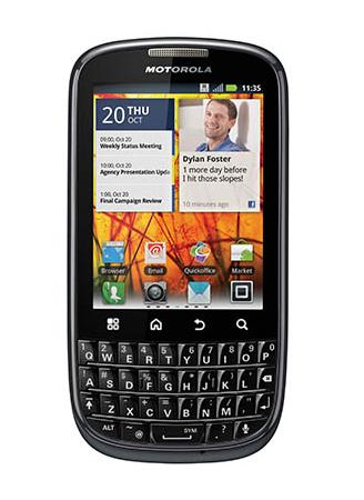 Motorola Pro+: Gingerbread-Smartphone mit Hardwaretastatur - Motorola Pro+