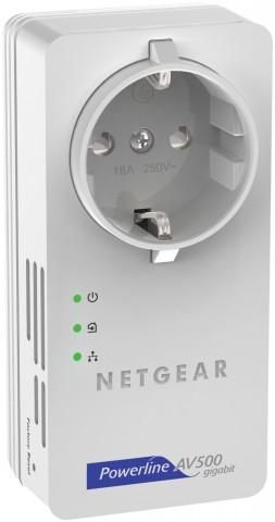Netgear Powerline AV+ 500 Nano - Powerline-Adapter für 500 MBit/s, mit Gigabit-Ethernet und mit Steckdose (Bild: Hersteller)