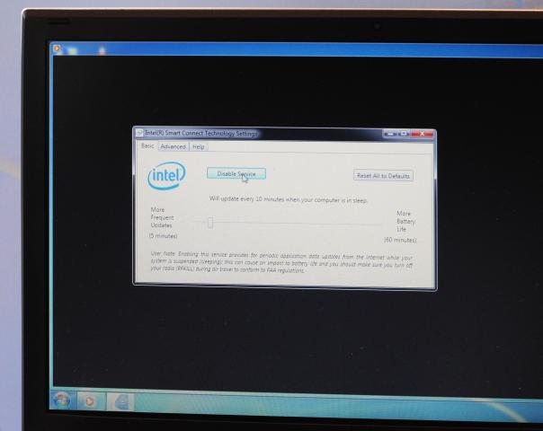 Intels Tool für Smart Connect unter Windows 7