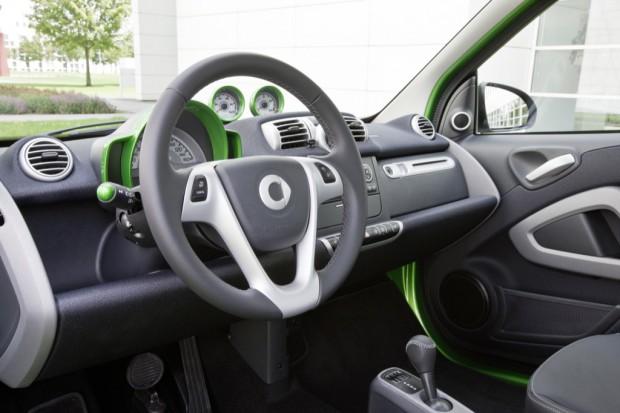 Das Innere des Smart Fortwo Electric Drive (Bild: Daimler)