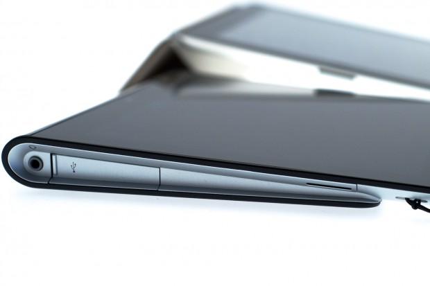 Sonys Tablet wird auch ohne Zubehör leicht angewinkelt.