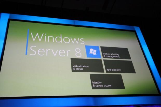 Microsoft zeigt Windows Server 8 auf der Konferenz Build Windows.