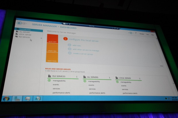 Neues Server Management Dashboard in Windows Server 8