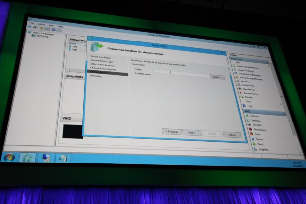 Live-Miration in Windows Server 8