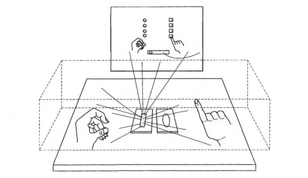 Apples patentiertes Gerät zur Gestensteuerung (Bild: Apple/US-Patentamt)
