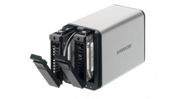 Freecom Silverstore 2-Drive NAS  - fasst zwei 3,5-Zoll-SATA-HDDs (Bild: Hersteller)