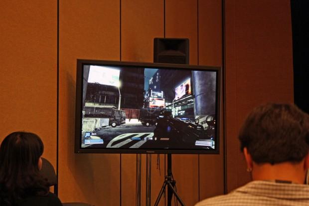 Blacklight: Retribution mit SSD-Optimierung - es gibt Videowerbetafeln statt Standbilder. (Bild: Roland Austinant/PCGH)