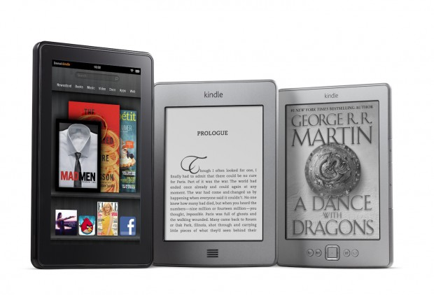 Amazons neue Kindle-Geräte - ganz links das Android-Tablet Kindle Fire (Bild: Amazon)