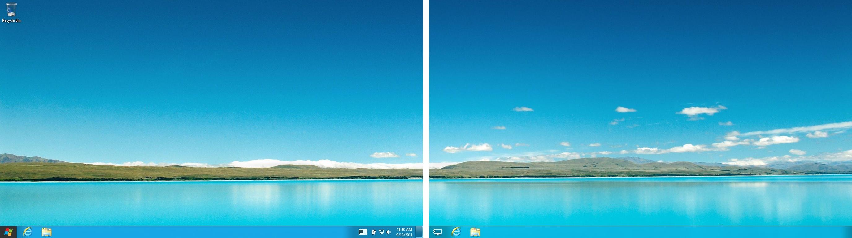 Microsoft: Windows 8 erhält integrierten Passwortmanager - Die Taskleiste funktioniert unter Windows 8 von Haus aus mit mehreren Bildschirmen.
