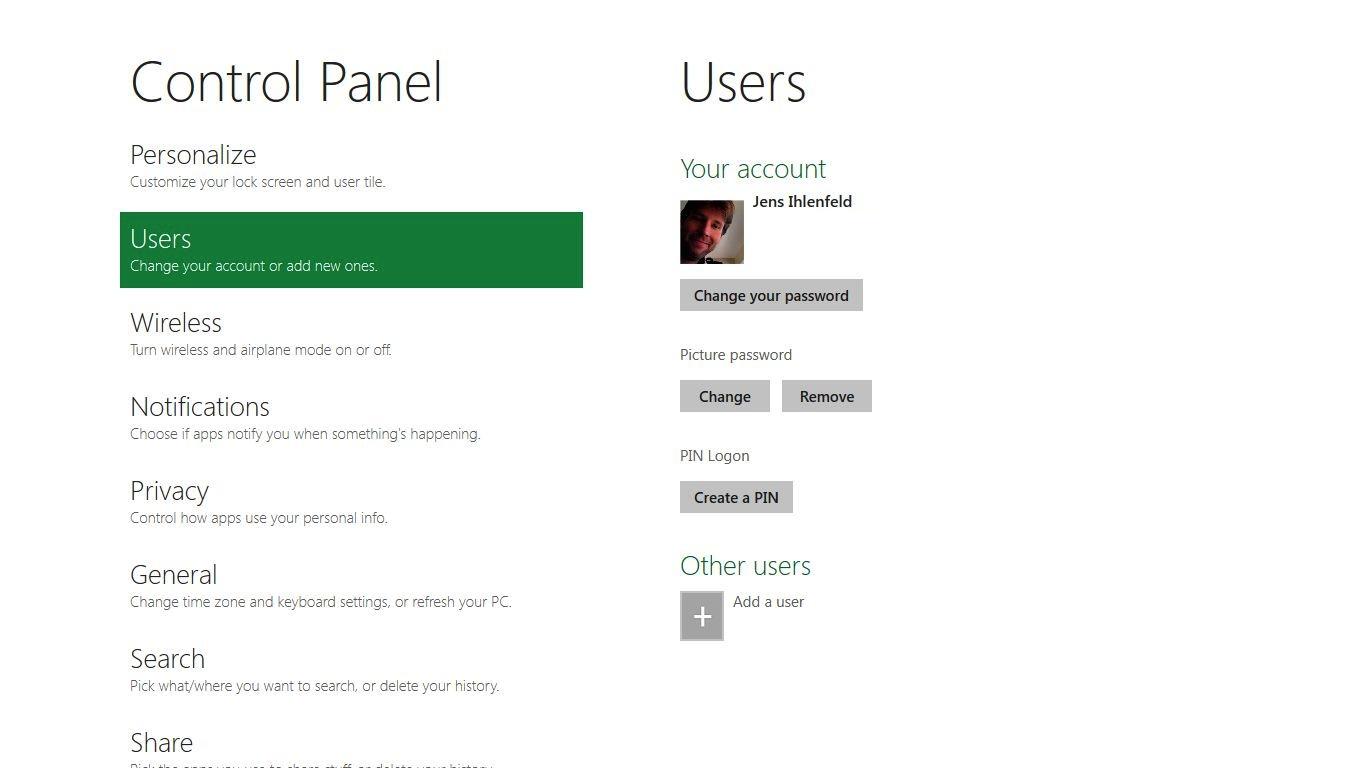 Internet Explorer 10: Microsoft propagiert pluginfreie Websites - Windows 8 Control Panel