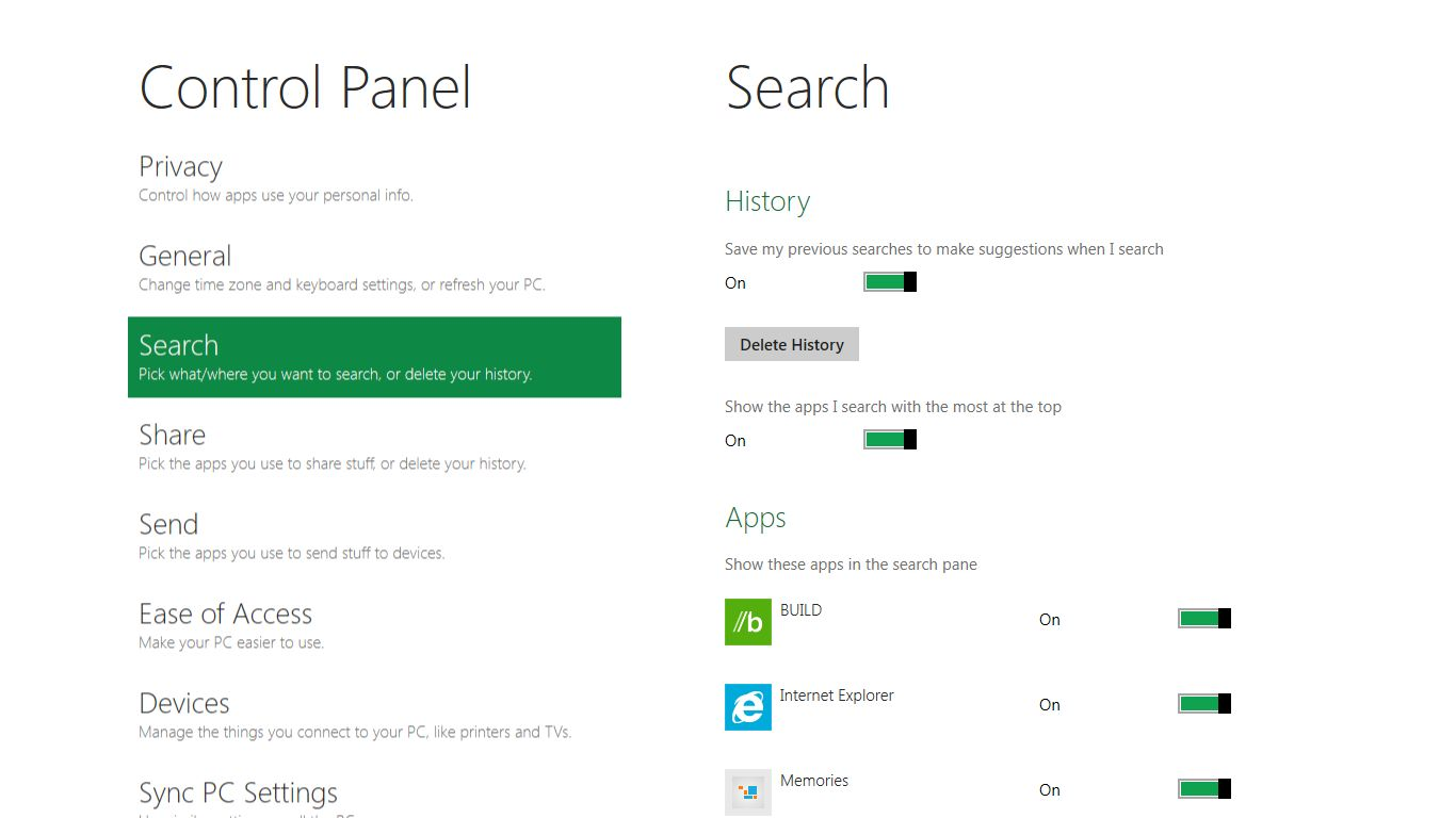 Microsoft: Windows 8 erhält integrierten Passwortmanager - Windows 8 Control Panel
