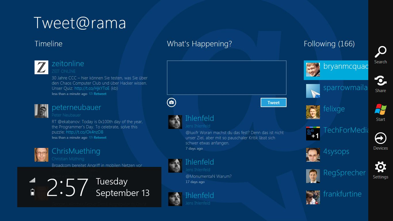 Internet Explorer 10: Microsoft propagiert pluginfreie Websites - Tweetanwendung unter Windows 8