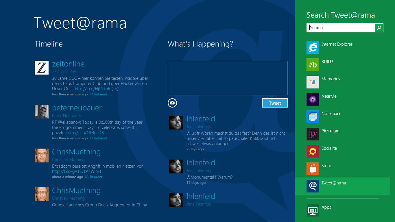 Internet Explorer 10: Microsoft propagiert pluginfreie Websites - Tweetanwendung unter Windows 8
