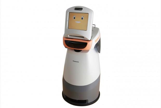 Der Roboter Hospi-Rimo dient als Kommunikationsplattform für bettlägrige Patienten. (Foto: Panasonic)
