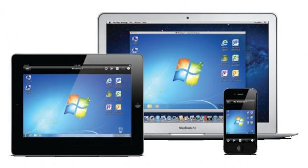 Parallels Desktop 7 für Mac - mit der Parallels Mobile App auch mit dem iPad oder iPhone fernsteuerbar. (Bild: Parallels)