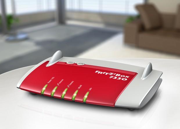 Die Fritzbox 7330 von AVM (Bild: Hersteller)