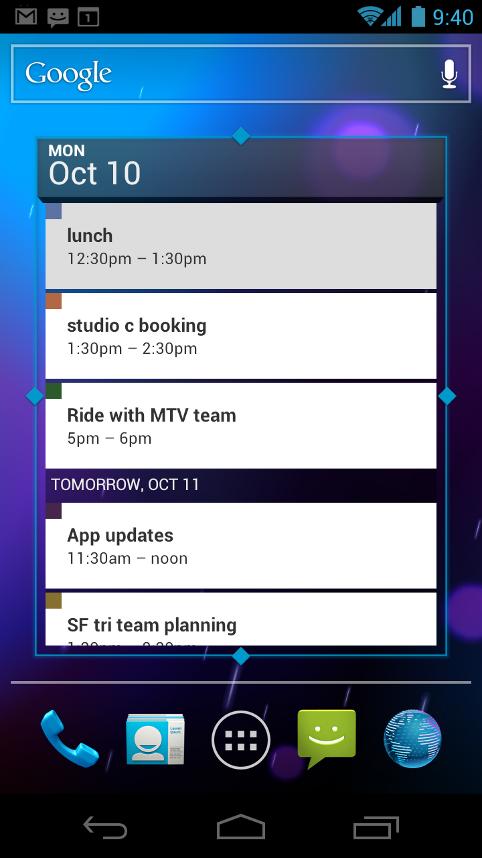 Galaxy S2 und Galaxy Note: Samsung bringt Android 4.0 im ersten Quartal 2012 - Kalender-Widget von Android 4.0