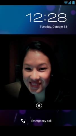 Sperrbildschirm von Android 4.0