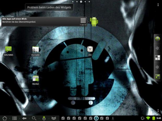 Startbildschirm in Cyanogenmod 7.1 auf dem Touchpad