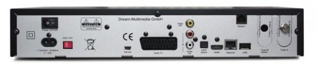 Dreambox DM7020 HD - Rückseite (Bild: Dream Multimedia)