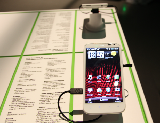 HTC Sensation XL mit 4,7-Zoll-Display, Beats Audio und Android
