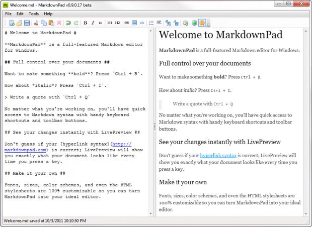 Markdownpad (Bild: Evan Wondrasek)
