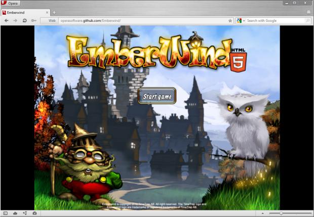 Opera 12 für Windows - Emberwind im Browser