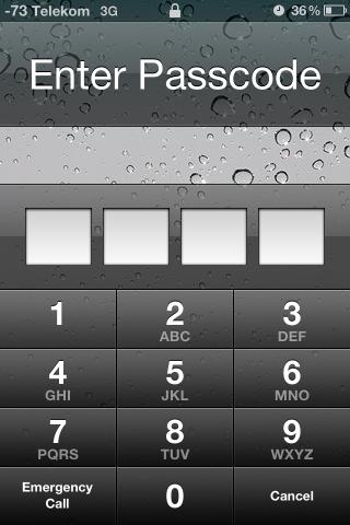 So müsste es aussehen. Das iPhone fragt nach dem Entsperrcode.
