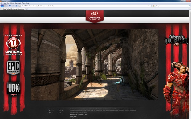 Flash Player 11: Epic Games zeigt Unreal Tournament 3 im Browser.