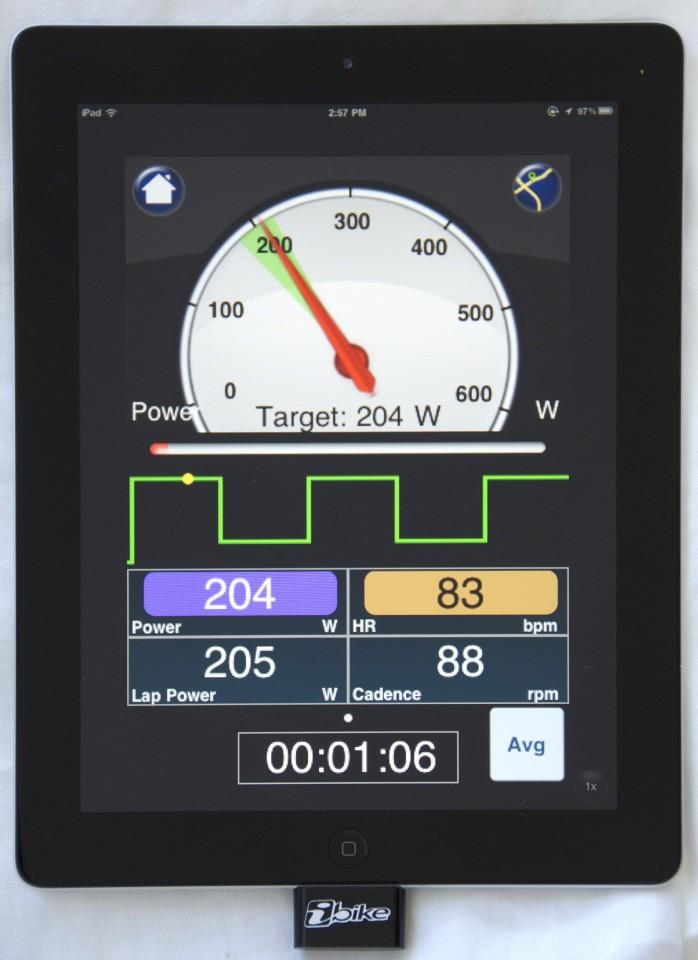 iBike Workout: Das iPad als Fahrradtrainer für den Winter - Velocomp iBike Workout (Bild: Velocomp)