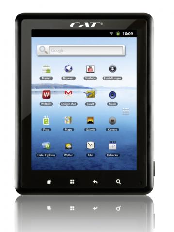 Weltbild und Hugendubel verkaufen 8-Zoll-Tablet mit Android 2.3 von Cat.