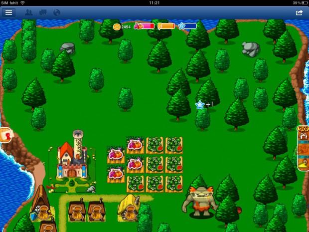 Woogas HTML5-Spiel Magic Land: Island funktioniert mit Facebooks iPad-App. (Bild: Golem.de)