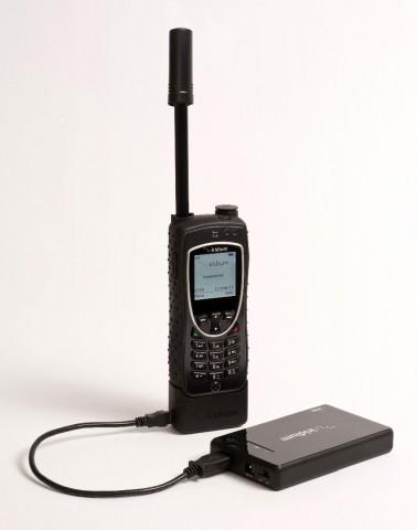 Satellitentelefon Iridium Extreme mit Axcess-Point-Erweiterung für schmalbandiges Satelliteninternet (Bild: Iridium)