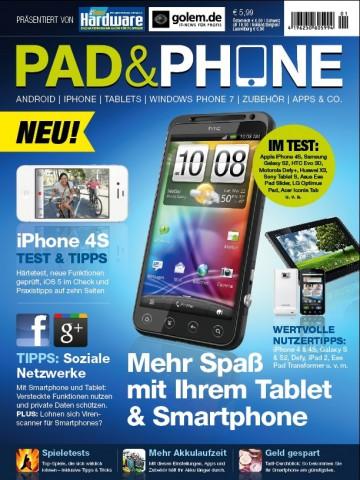 Pad & Phone 1/11 - Cover der  Erstausgabe (Bild: Computec)