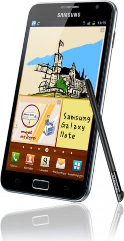 Samsung Galaxy Note N7000 mit 5,3-Zoll-Touchscreen und Eingabestift (Bild: Hersteller)