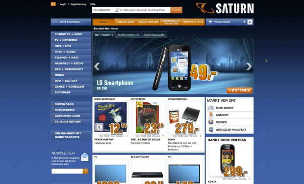 Onlineshop von Saturn (Saturn/Screenshot: Golem.de)