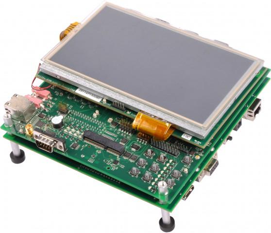 Die Entwicklungsplatine von Texas Instruments mit dem Sitara AM335x