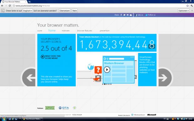 YourBrowserMatters.org: Nur 2,5 Punkte für Chrome 14.