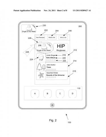 Persistent Overlay - Apple-Patentantrag 20110289427 (Bild: US-Patent- und Markenamt/ Apple)