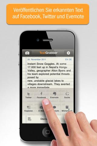 Abbyy: iPhone übersetzt geschriebene Texte - Abbyy TextGrabber + Translator (Bild: Abbyy)